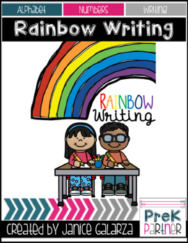 Rainbow write letters & numbers