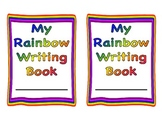 Rainbow writing Booklet   trace font
