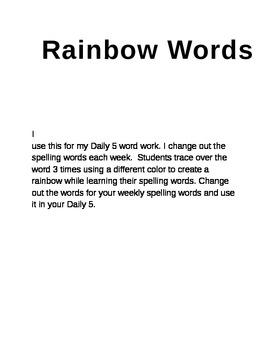 RainbowWords