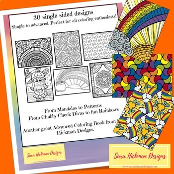 Rainbow Coloring Pages for Adults, Teens and Big Kids