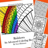 Adult Coloring Pages with Rainbows for Adults, Teens and Big Kids