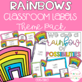 RAINBOWS Editable Name Tags, Labels, Posters & Door Display