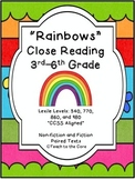 """Rainbows"" Close Reading - 3rd-6th Grade Text Passages and Graphic Organizers"