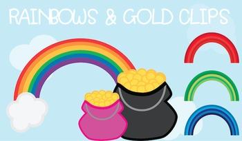 Rainbows & Gold {Freebie!)