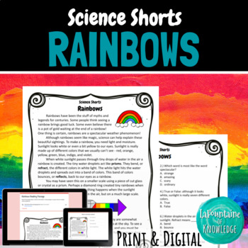 Rainbows Reading Comprehension Passage