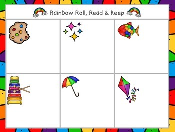 Rainbows Rhyme & Reading FREEBIE