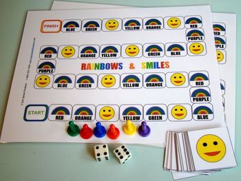 Open Ended Reinforcement Game:Rainbows & Smiles