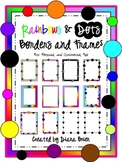 Rainbows and Dots Frames & Borders Clip Art for Personal a