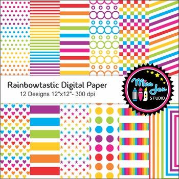 Rainbowtastic Digital Paper
