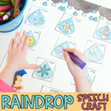 Raindrop Articulation No Prep Spring Craft for Speech Therapy
