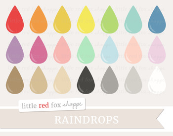 Raindrop Clipart; Shape, Weather, Rain Drop