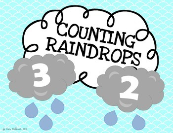 Spring Counting Practice 1-20 - Weather and Rain Drops