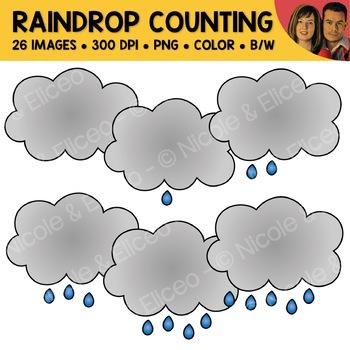 Raindrop Counting Scene Clipart