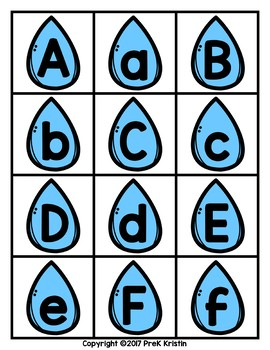 Raindrop Letter Matching and Sorting Game