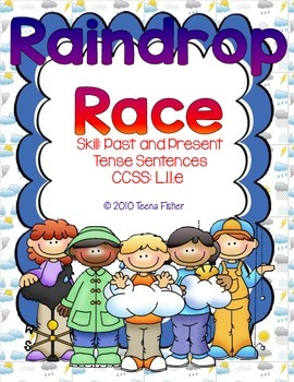 Raindrop Race Past or Present Tense Sentences First Grade Treasures Reading