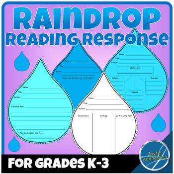 Raindrop Shaped Reading Response Sheets for Any Book