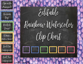Editable Raindrop Watercolor Clip Chart