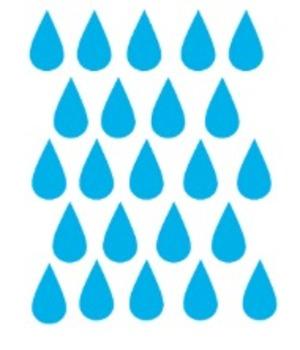Raindrops (Clip Art)