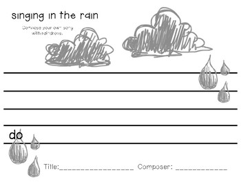 Singing in the Rain - Melody Composition Worksheet
