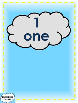 Raindrops Numeral and Number Word-Quantity Matching