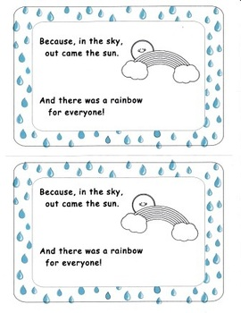 Raindrops Spring Emergent Reader