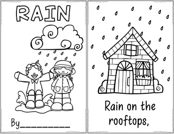 Raindrops (Two Pocket Chart Poems)