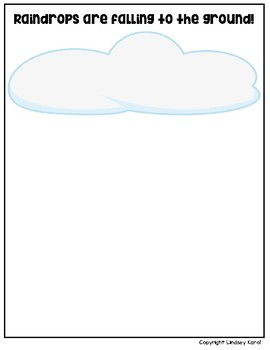Raindrops are Falling to the Ground Vocabulary File Folder Activities