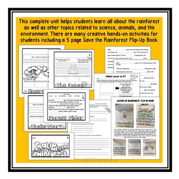 Rainforest - Animal Habitats & Layers of the Rainforest - 140 pages!