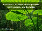 Rainforest! Photosynthesis, Ecosystems & Evolution–Distanc