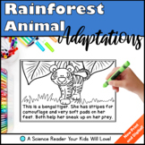 Rainforest Animal Adaptations Science Reader Distance Learning Google Classroom