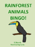 Rainforest Animals BINGO!