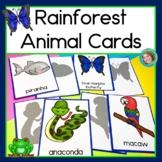 Rainforest Animal Cards for Read the Room, Matching Games, and More!