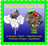 Rainforest Animal Puppet Masks (Included in Rainforest: Maps, Mural, Minimuseum)