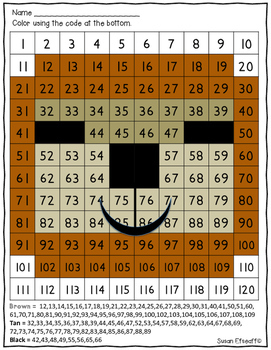 Math Coloring Sheets- 100s Chart- Rainforest Animal theme -Number Sense