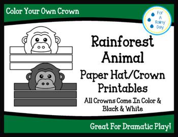 Rainforest Animal Paper Hat/Crown Printables