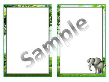 Rainforest Animal PowerPoint Backgrounds (Commercial Use OK)
