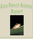 Rainforest Animal Report Outline