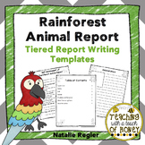 Informative Writing Templates | Rainforest Animals | Animal Report Writing