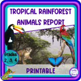 Rainforest Research Packet with Animal Fact Sheets and Gra