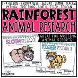 Rainforest Animal Research Project
