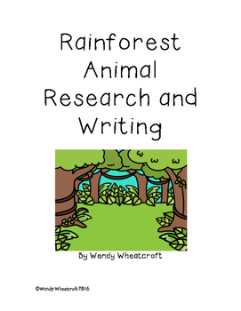 Rainforest Animal Research and Writing