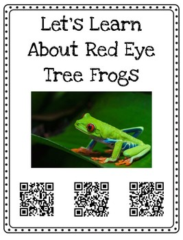 Rainforest Animal Research with QR Code Posters & Nonfiction Writing Book