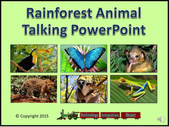 Rainforest Animal Talking PowerPoint & Four Puzzle Pack