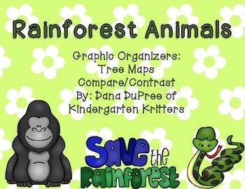 Rainforest Animal Tree Maps