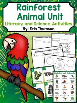 Rainforest Animal Unit ~ Literacy and Science Activities
