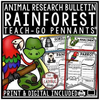 Rainforest Animals Research Project & Rubric • Teach- Go Pennants™