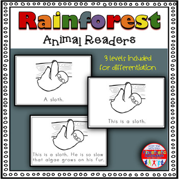 Rainforest Animals - A Differentiated Set of Emergent Readers