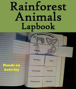 Rainforest Animals Activity: Interactive Notebook Foldable/ Coloring Book