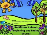 Rainforest Animals Beginning and Ending Sounds