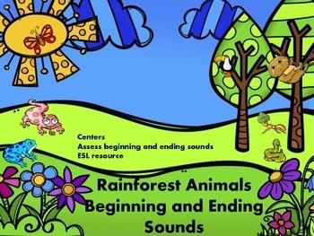 Rainforest Animals Beginning and Ending Sounds